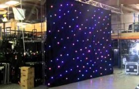 Star cloth hire, star cloth hire melbourne, star cloth LED