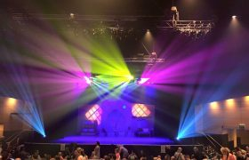 Clearlight Hire Gear at a Giggle and Hoot production, photo courtesy Jason, Moving Light Productions