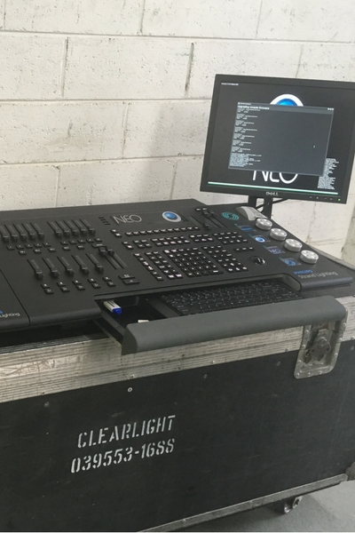 Lighting Desk in clearlight shows factory