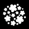ME-1115 retro flowers