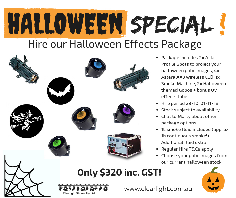Halloween Special Hire package deal